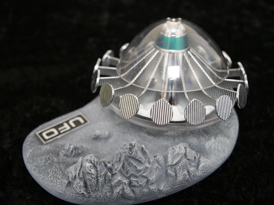 UFO Alien Saucer With Lunar Display Base - The Gerry Anderson Store