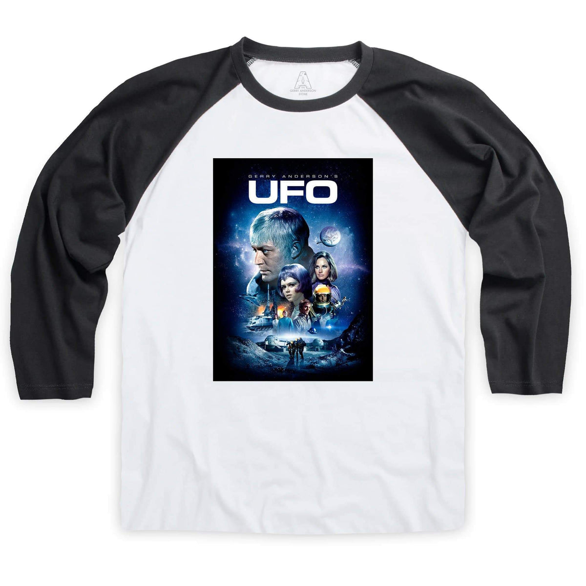 UFO Baseball T-Shirt [Official & Exclusive] - The Gerry Anderson Store
