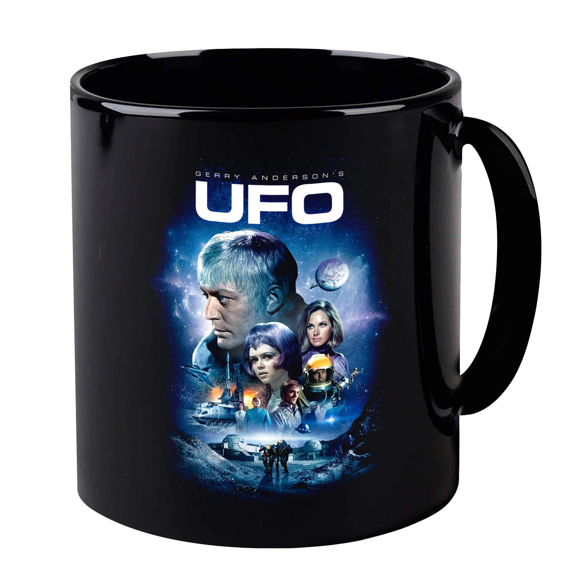 UFO Black Mug [Official & Exclusive] - The Gerry Anderson Store