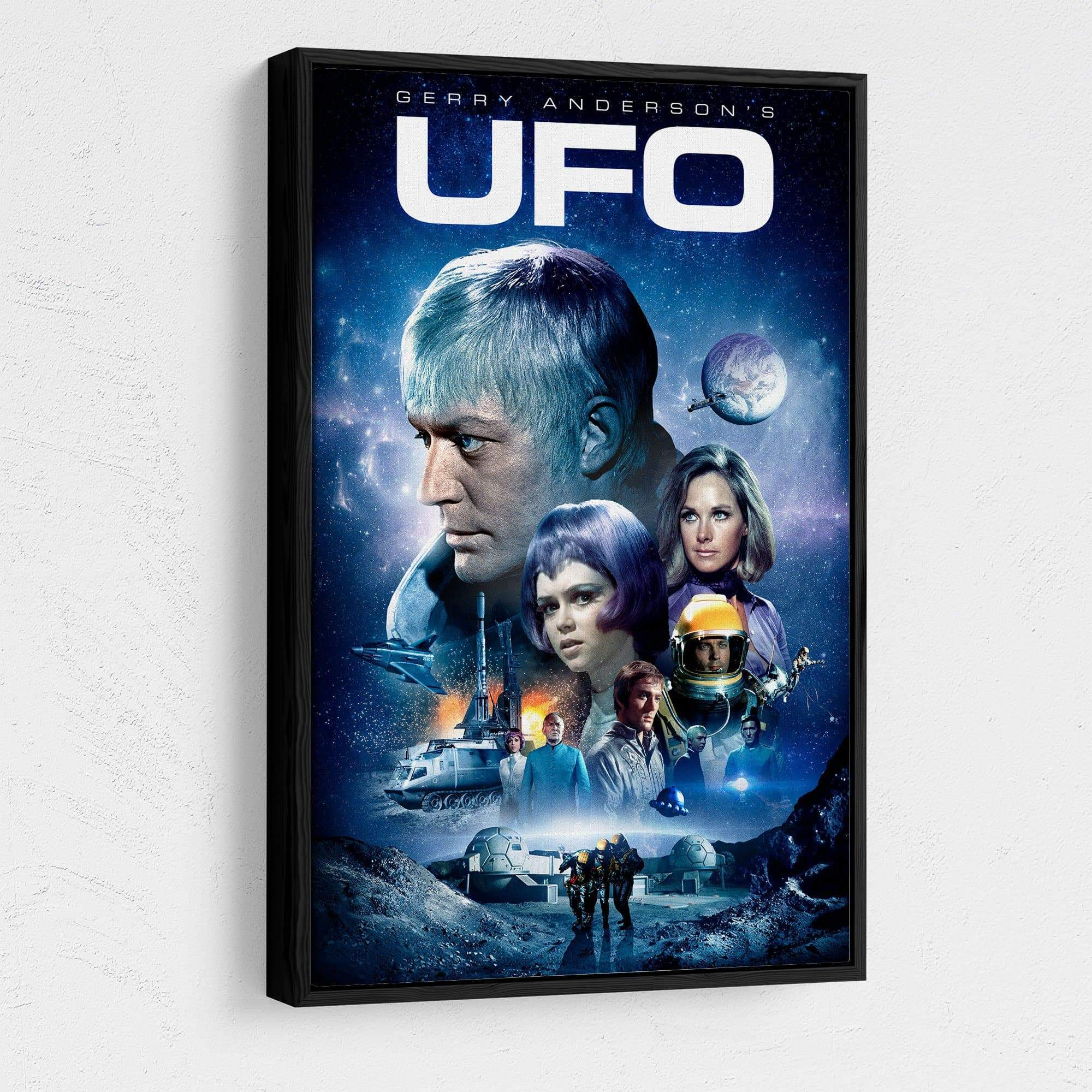 UFO Framed Canvas Print [Official & Exclusive] - The Gerry Anderson Store