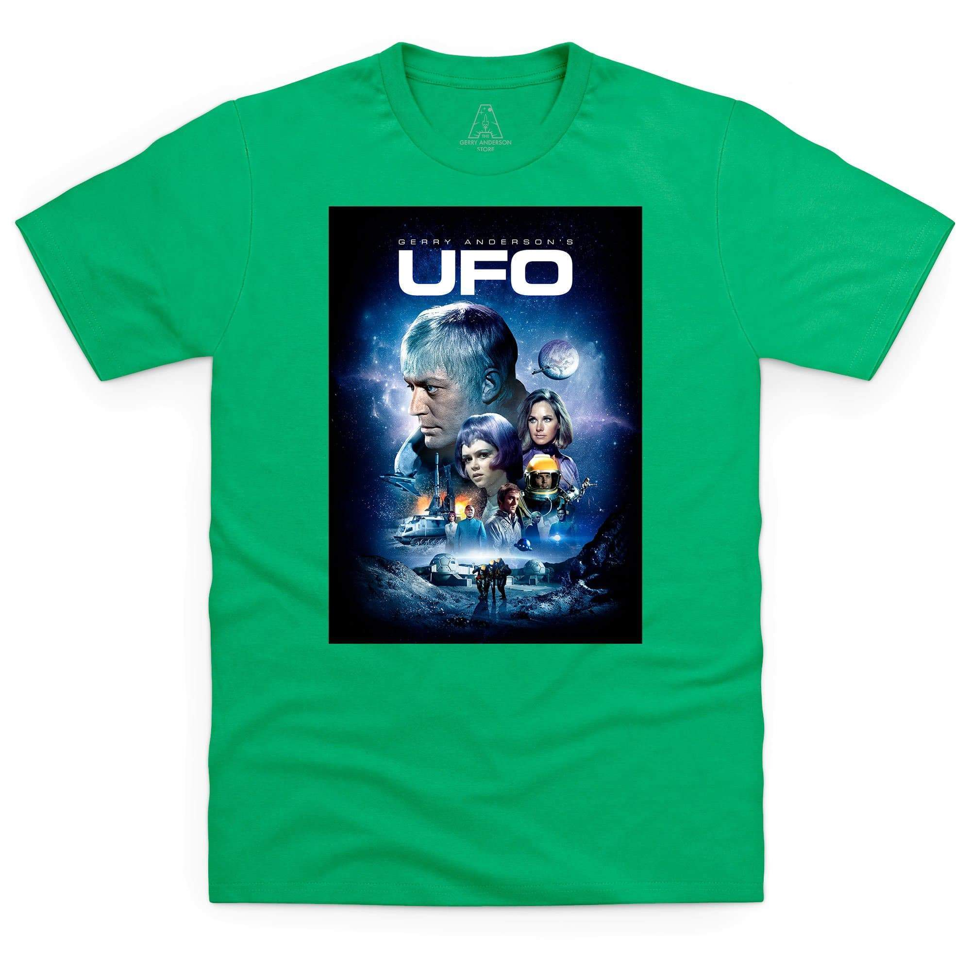 New SHADO UFO Sci Fi Gerry Anderson TV Show Men/'s Black T-Shirt Size S to 3XL