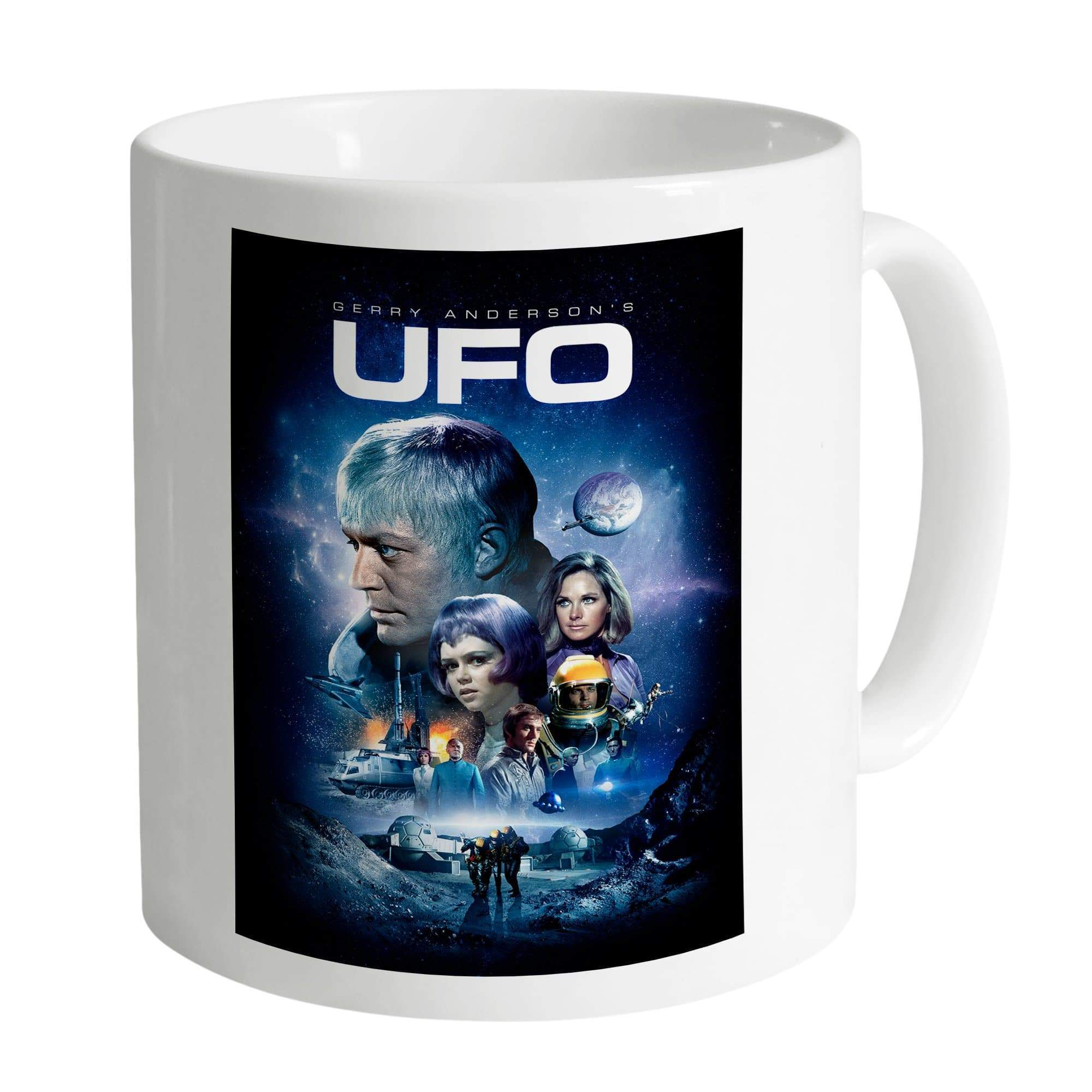 UFO White Mug [Official & Exclusive] - The Gerry Anderson Store