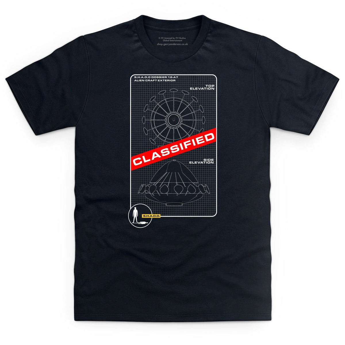 UFO Schematic Men's T-Shirt [Official & Exclusive] - The Gerry Anderson Store