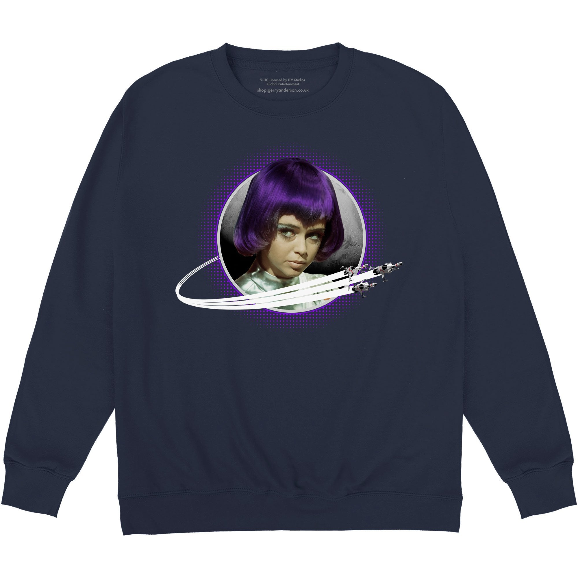 UFO Sweatshirt Featuring Lt. Gay Ellis [Official & Exclusive] - The Gerry Anderson Store