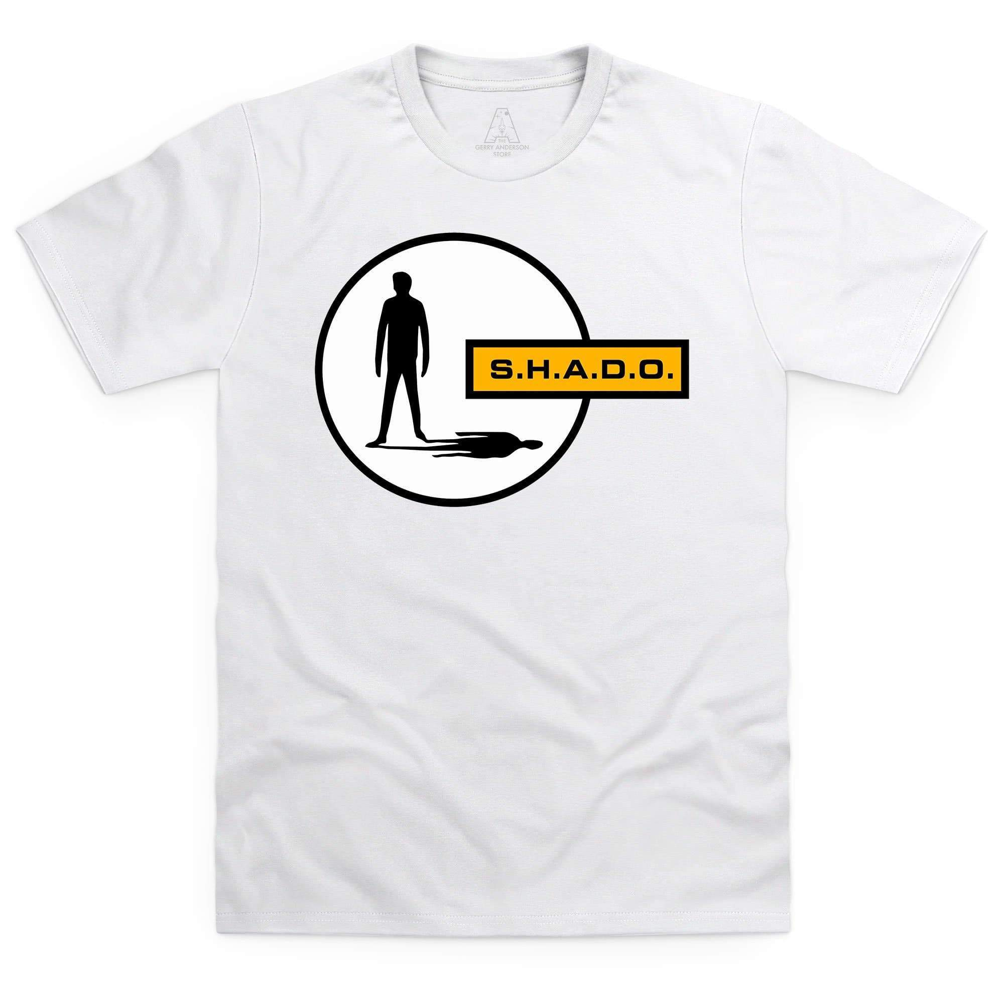 UFO/SHADO Logo Men's White T-Shirt [Official & Exclusive] - The Gerry Anderson Store