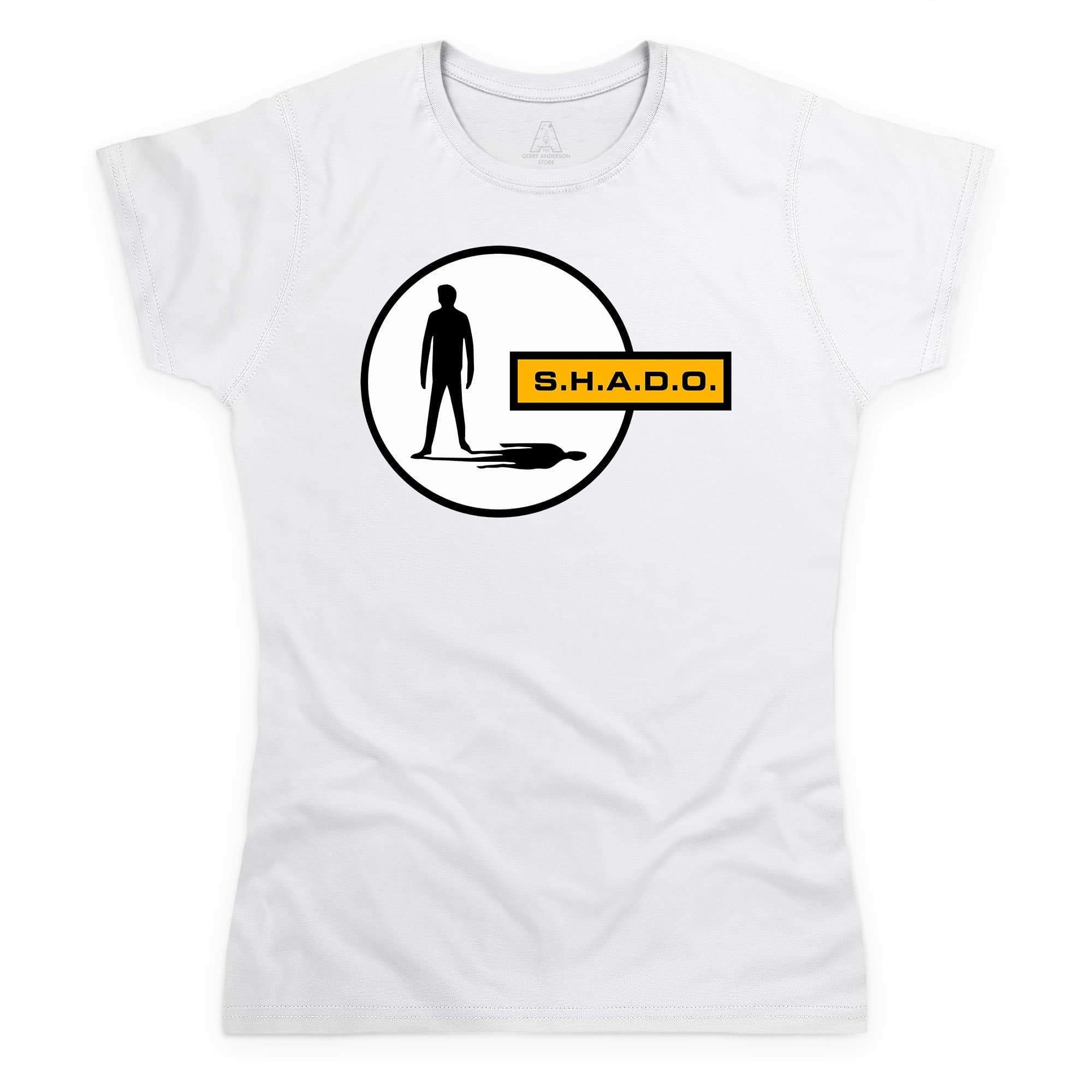 UFO/SHADO Logo Women's White T-Shirt [Official & Exclusive] - The Gerry Anderson Store