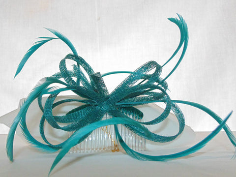 Emerald Fascinator Sinamay