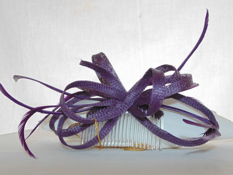 Deep Purple Fascinator Sinamay