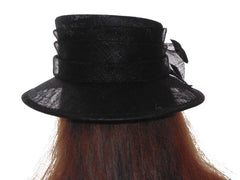 Black Hat - Medium Brim - Sinamay