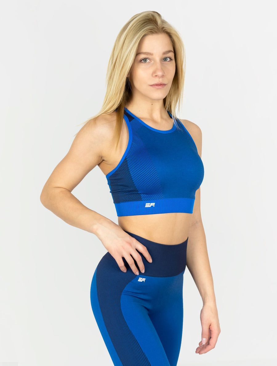 EVER FIT Sports Bra - Cobalt Blue - EVERFIT