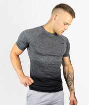Gradient Seamless T-shirt - Dark Grey - EVERFIT