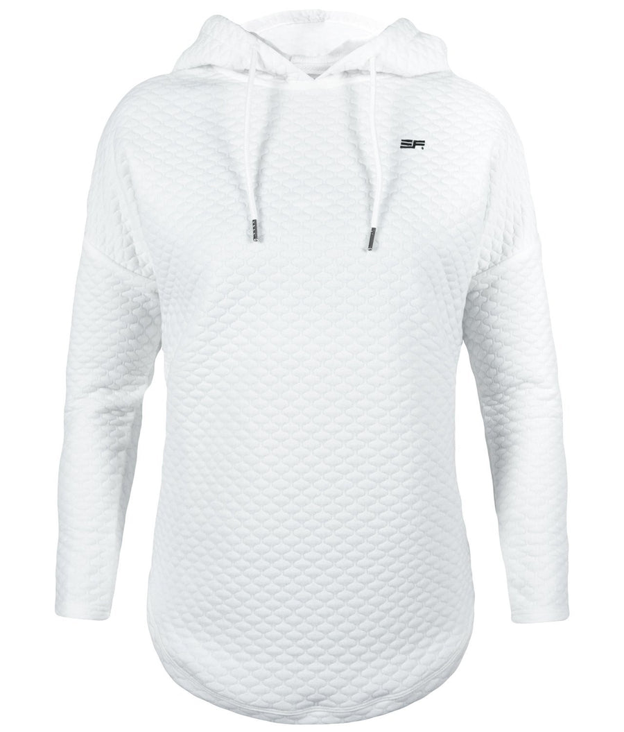 Quilted Hoodie - White - EVERFIT