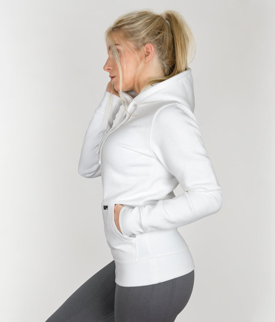 Soft Hoodie - White - EVERFIT
