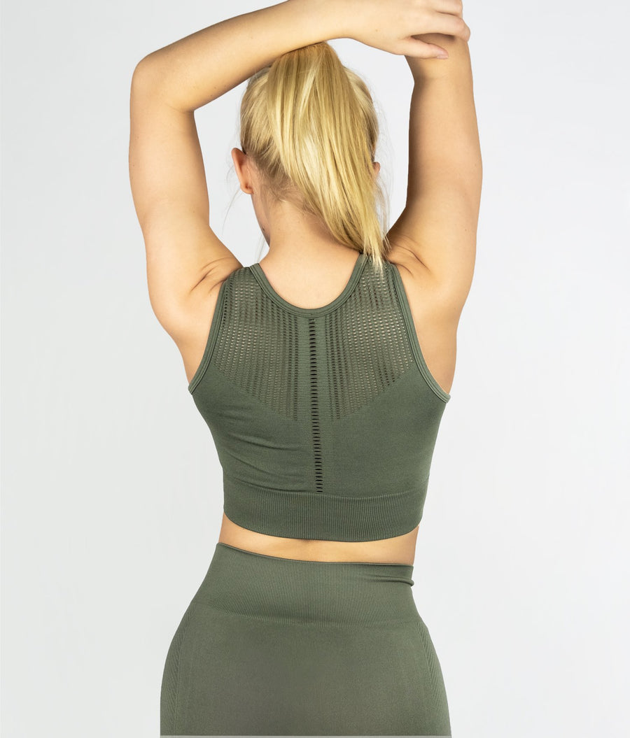 Structure Sports Bra - Khaki - EVERFIT