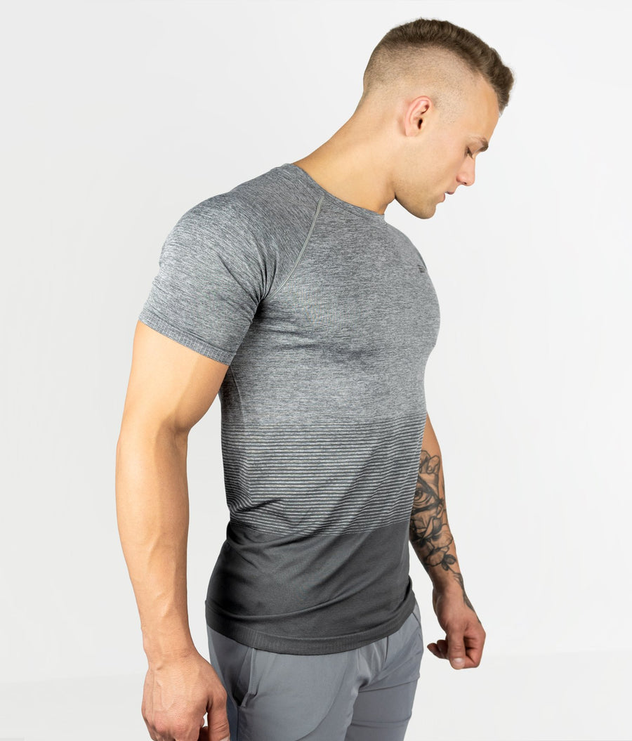 Gradient Seamless T-shirt - Light Grey - EVERFIT