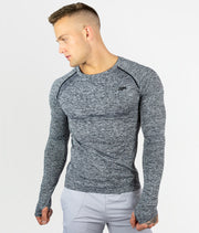 Seamless Longsleeve - Charcoal Grey - EVERFIT