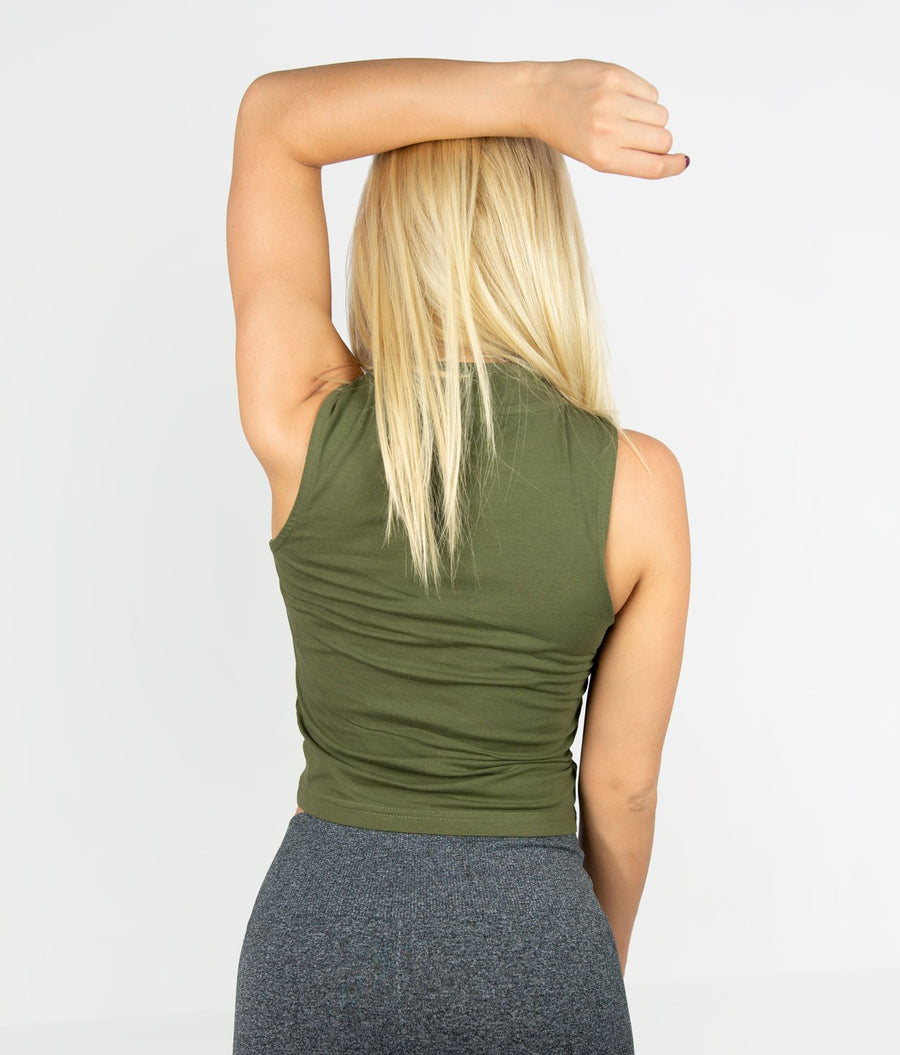 Sleeveless Top - Khaki - EVERFIT
