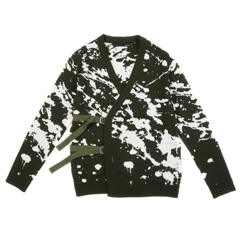 Intarsia Paint Splatter Knit Cardigan (FW 2016)