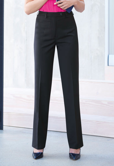 Varese Straight Leg Trousers Black