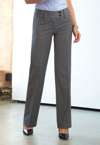Miranda Parallel Leg Trousers Light Grey