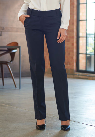 Genoa Tailored Leg Trouser Navy