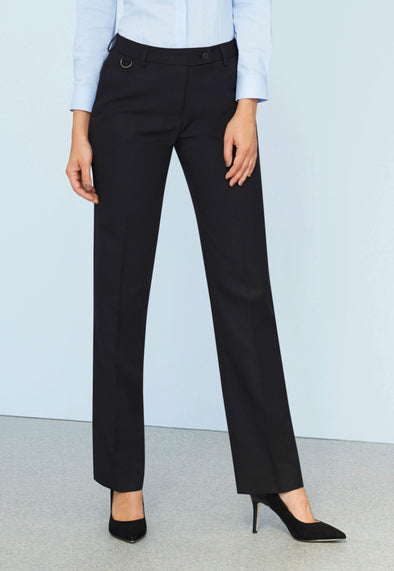 Venus Straight Leg Trousers Black