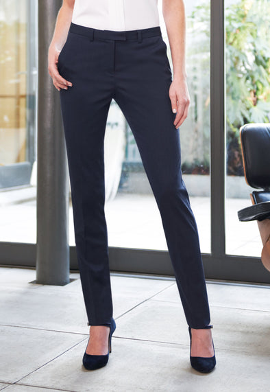 Ophelia Slim Fit Trousers Navy Pin Dot