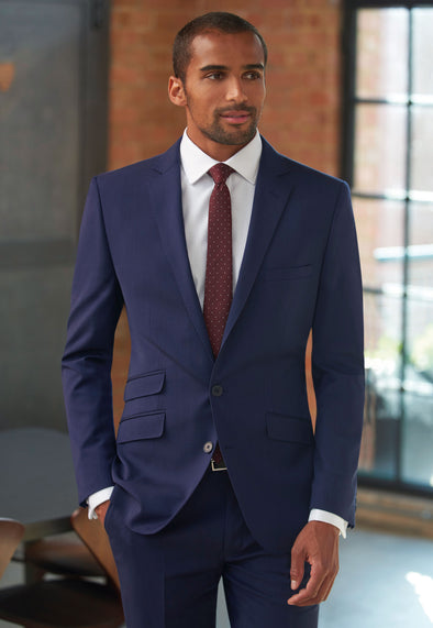 Cassino Slim Fit Jacket in Mid Blue colour