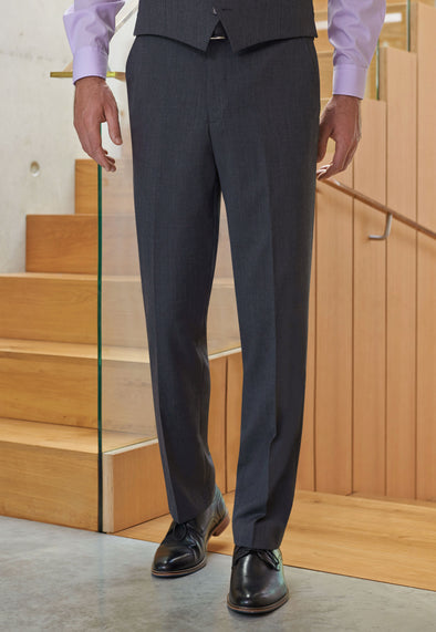 Aldwych Tailored Fit Trousers Charcoal