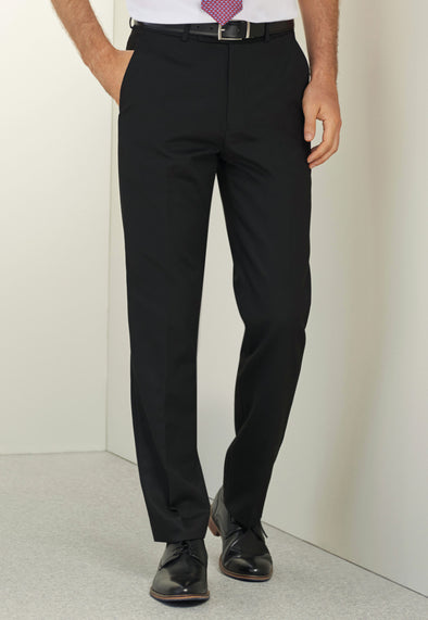 Apollo Flat Front Trousers Black