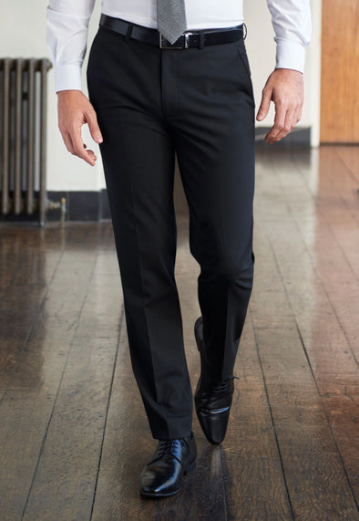 Monaco Tailored Fit Trousers Black