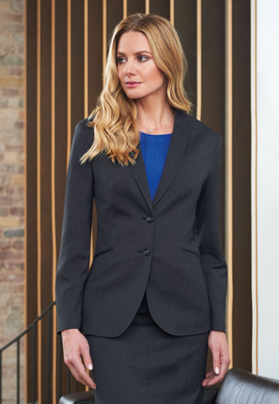 Cordelia Tailored Fit Jacket Charcoal Pin Dot