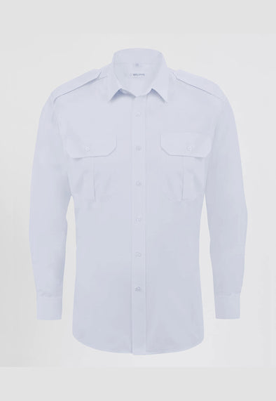 Men's Premium Pilot Shirt Long Sleeve White