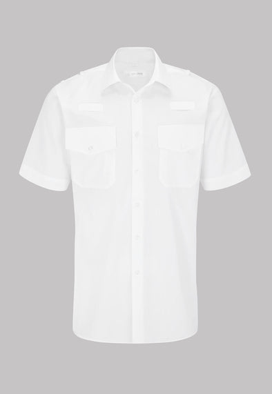 Men's Security Shirt Short Sleeve White