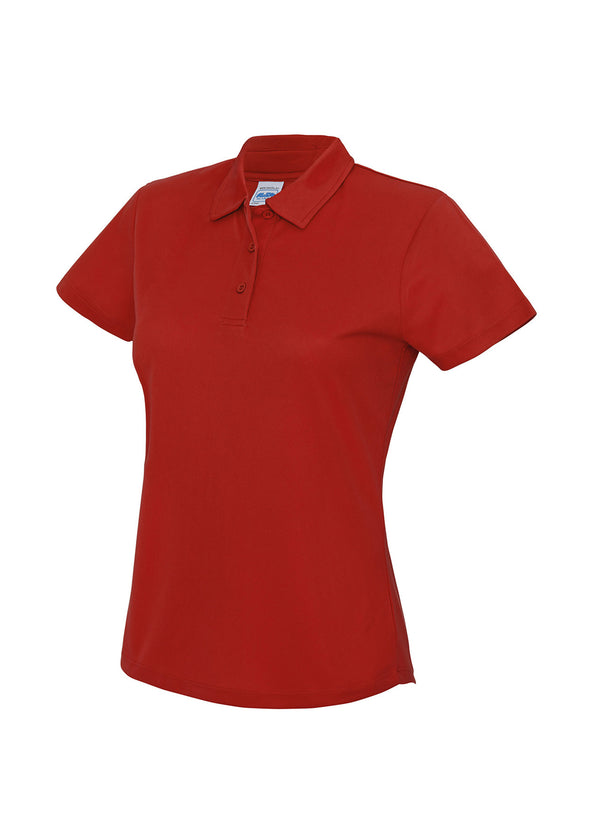 Ladies Cool Polo Shirt Fire Red