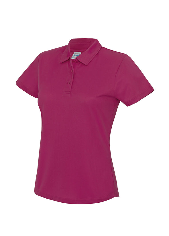 Ladies Cool Polo Shirt Hot Pink