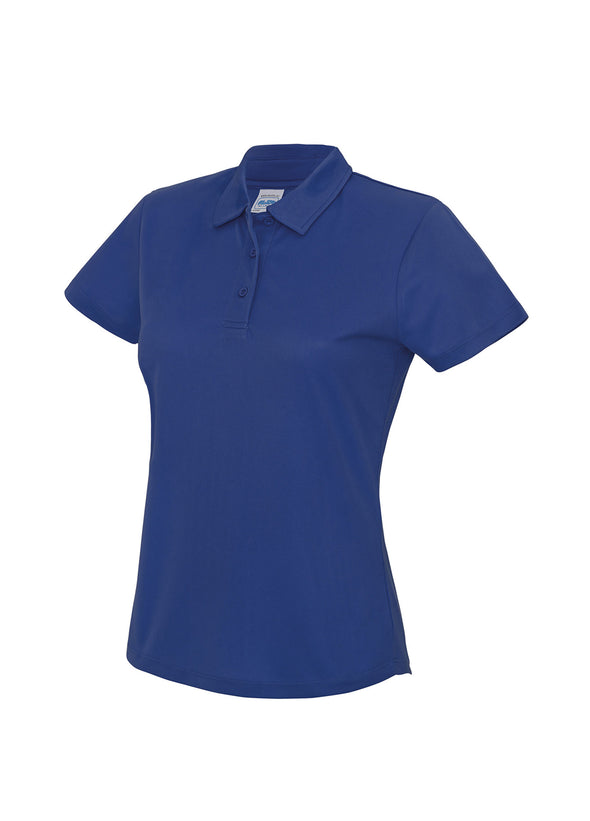 Ladies Cool Polo Shirt Royal Blue