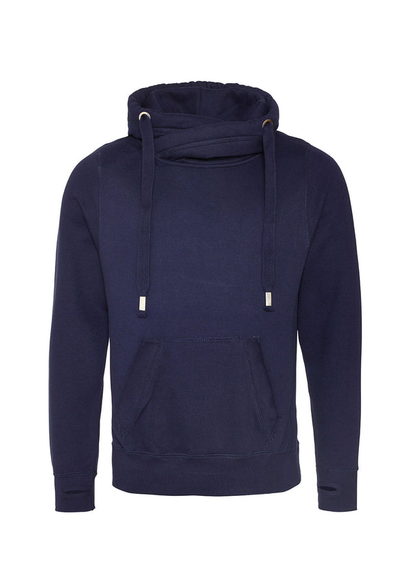 JH021 Cross Neck Hoodie Oxford Navy