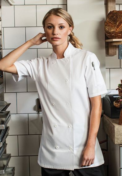 PR670 Women's Short Sleeve Chef's Jacket