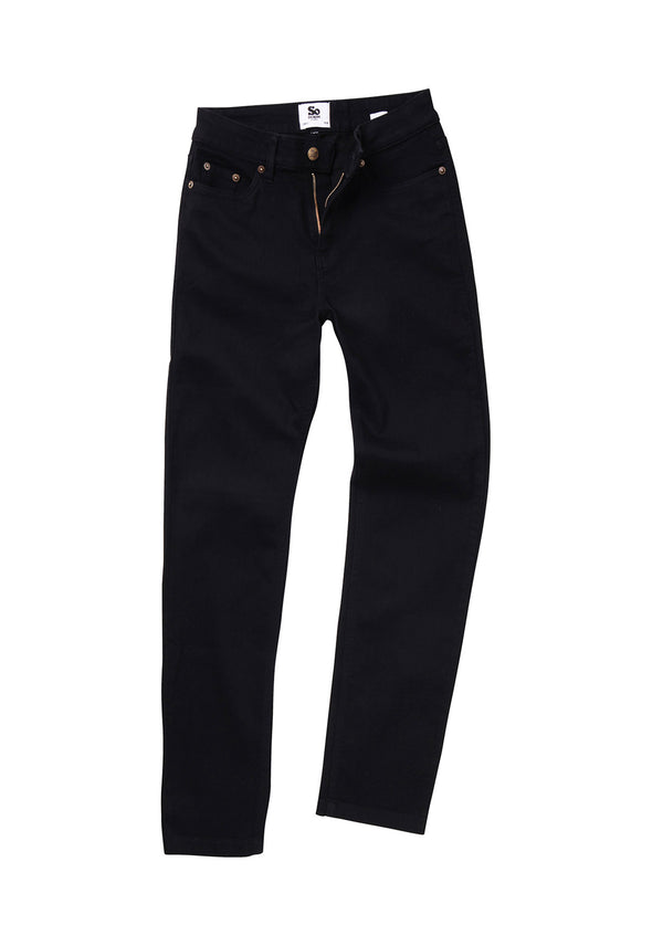 SD011 Women's Straight Jeans Black