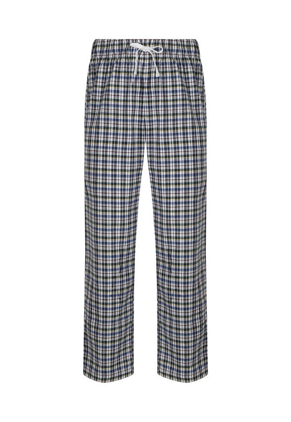 SFM83 Men's Tartan Lounge Pants White Multi Check