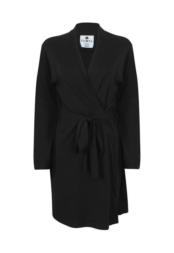 TC050 Women's Wrap Robe Black