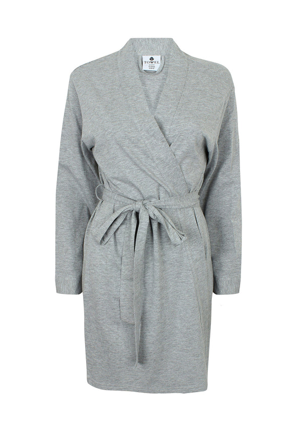 TC050 Women's Wrap Robe Heather Grey