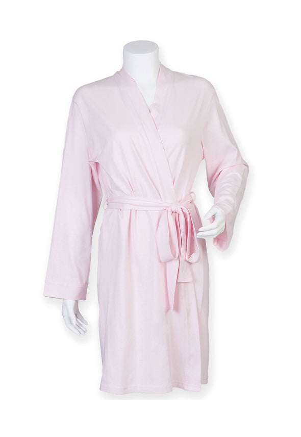 TC050 Women's Wrap Robe Light Pink