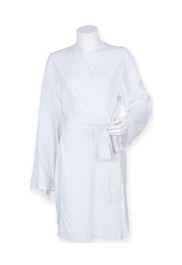 TC050 Women's Wrap Robe White