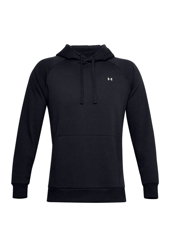 UA002 Rival Fleece Hoodie Black Onyx White