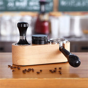 Manual Wood Coffee Tamper Holder - Alpha Coffee USA