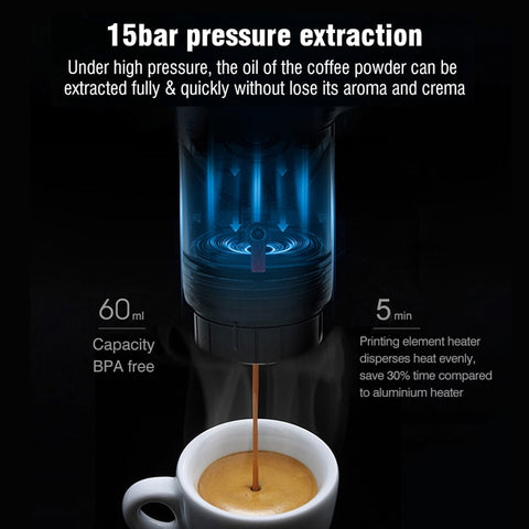 HiBREW Portable Car Coffee Machine - Alpha Coffee USA