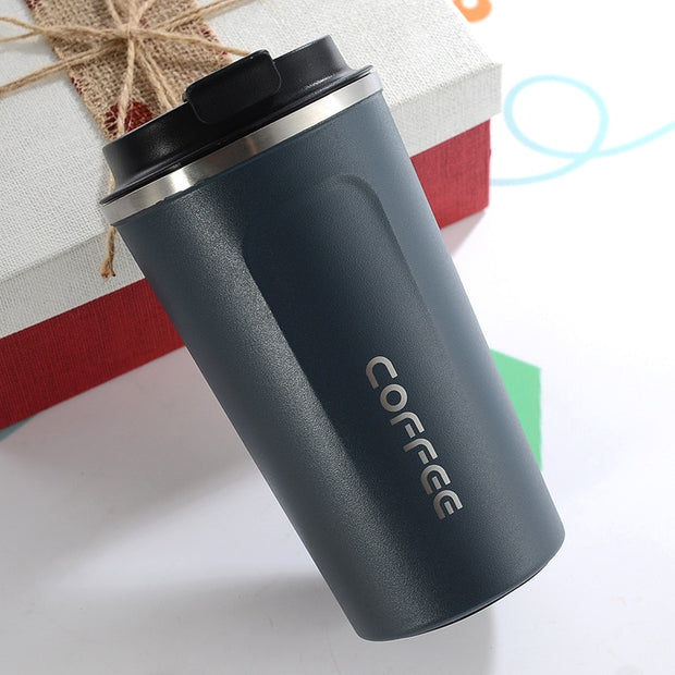 Double Stainless Steel Coffee Mug - Alpha Coffee USA