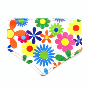 FLOWERS REVERSIBLE DOG BANDANA